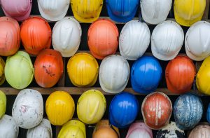 hard hats in multiple colours